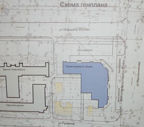 Схема генплана участка.